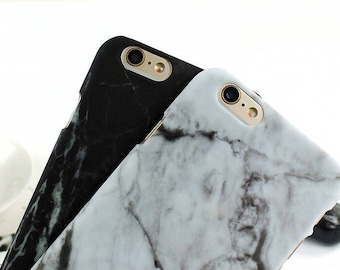 White Marble Matte iPhone Case | iPhone 7/6/6S