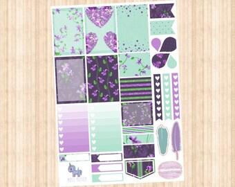 Violet Weekly Kit // Happy Planner // Erin Condren // Personal