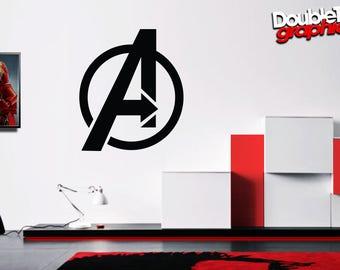 Avengers Inspired 'A-Logo' Vinyl Wall Art