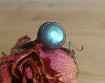 Size 12 Blue Labradorite Ring