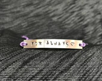 For Always adjustable cord bracelet - Brittainy Cherry - Fire Between Hi & Lo - OR #maktub
