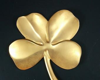 24 Kt Gold Electro Plated Wall Hanging Shamrock 4 Leaf Clover