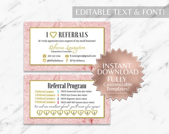 Pink|Marble Business Cards|RF Business Cards|Rodan and Fields Business Cards|Rodan and Fields|Rodan and Fields Referral Card|Rodan Fields