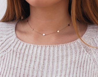 Coins necklace, Coins choker, Coin necklace, Coins chain, Boho jewelry, Boho necklaces, Gift ideas, Silver Necklaces, Silver coins necklace