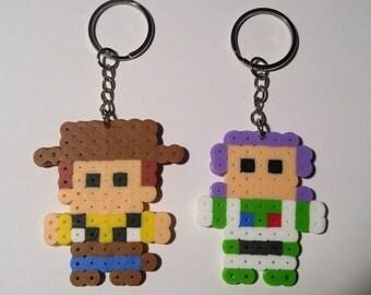 Small Sprite Perler Keychains!