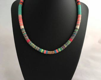Beaded Necklace, Beads Necklace, Cord Necklace, Tribal Necklace, Bohemian Necklace, African Necklace, Rope necklace, Choker Necklace