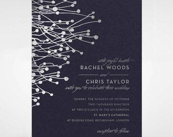Beautiful Branch Foil Wedding Invitation - IWF16094-GB-MS
