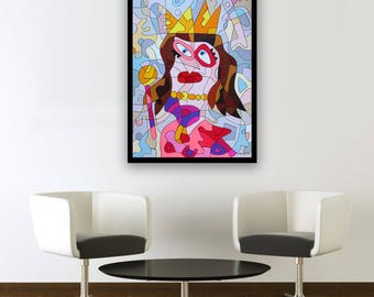 The Princess - Original painting by Ninah Mars