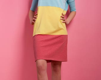 Oversize dress 'Icecream' summer dress Jersey turquoise yellow pink