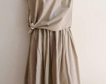 Junko Sagawa fine cotton layered and knotted top and skirt