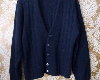 Vintage Harry Jacobson Alpaca Cardigan Sweater
