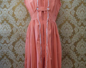 Vintage 1950s Dress with Lace Detail