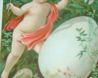 Victorian Scrap (Child with an Egg) #2