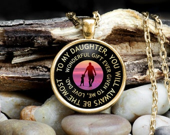 Necklace for Daughter from Father, Jewelry for Daughter, Gift for Daughter From Dad, Father Daughter Necklace, Father Daughter Jewelry