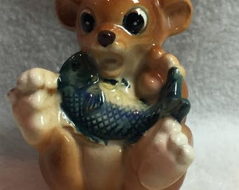 Small Brown Bear with Fish in Lap - Surprise! (#132