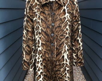 Retro Charles Gray London faux Leopard Jacket