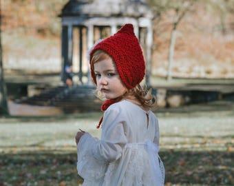 The Scarlet Pixie Bonnet
