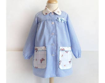 Baby Toddler School Apron SMOCK Painting Overall Back to School PDF Sewing Pattern Sizes 1 - 6 Years + FREE Snack bag Pattern  Boys Girls
