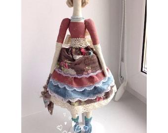 Tilda Doll Textile Doll Handmade Tilda Doll Cloth Doll Rag Doll