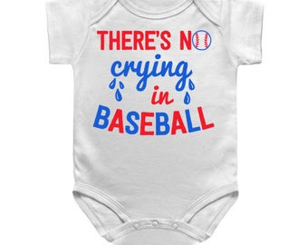 SINGLE TEE- No Crying in Baseball / Mommy and me / Matching Tees / Baby Tees / Unisex Tee / Toddler Tee / Kids Tee / A League of their Own
