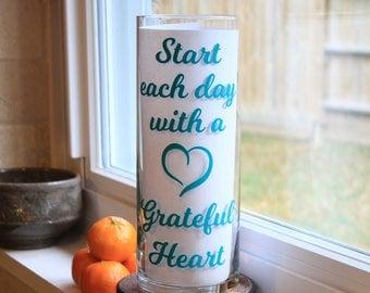 Grateful Heart, Grateful Hearts Gifts, Grateful Home Decor, Grateful Heart Gifts, Start Each Day with a Grateful Heart, Start Each Day
