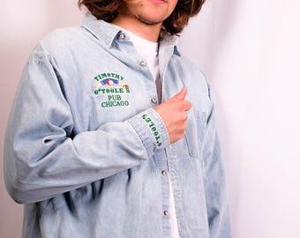 VINTAGE O'Toole's Denim Button Up
