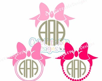 Bow Monogram Frame Svg Bow Svg Monogram Frame, Cricut, Silhouette,Cut File, Clipart SVG, Eps, Dxf, Png, Sports