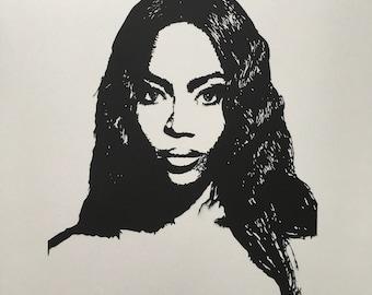 custom portrait based on photo, personalized portrait, paper cut art, wall decor, framed, souvenir, gift