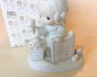 Vintage Precious Moments Wishing You A Yummy Christams Figurine 109754