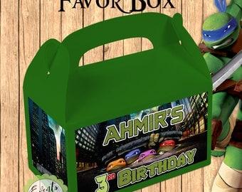 Ninja Turtles Inspired Favor Box,  Ninja Turtles Inspired Treat Box, Ninja Turtles Party Boxes