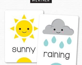 Emotions Flash Cards Preschool Toddler Mood Emotions