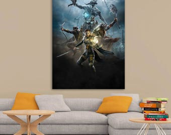 The Elder Scrolls Online Art Printed Wall Poster A0, A1, A2, A3, A4 Sizes Matte, Glossy Paper