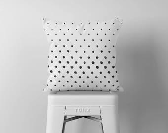 Polka Dot Throw Pillow, Black and White Pillow, Decorative Pillows, Square Pillow, Pillows, Throw Pillows, Accent Pillow, Cushion