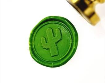 Cactus  Wax Seal Stamp/Wax sealing kit / Succulent Stamp/Garden Stamp/Cactus Gift/SS