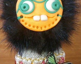 Keychain: Fantastic character with teeth 2