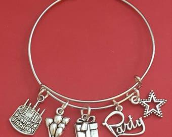 Birthday Themed Charm Bracelet