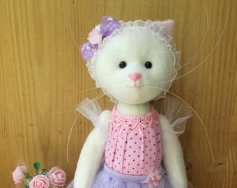 Сat doll ,Сat doll ballerina,Cat Stuffed Animal, Cat Plushie,Cat Handmade Doll,Сat Decorative toy,girl gift,Ballerina doll,cat lover gift