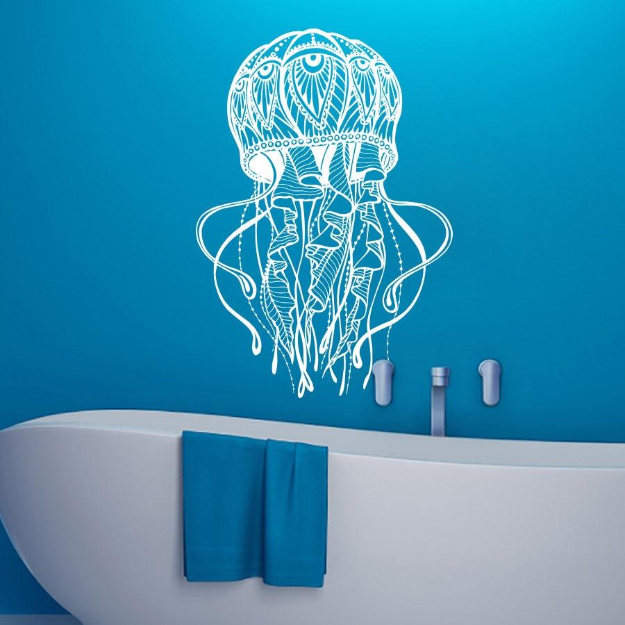 Jellyfish Wall Decals Bathroom Sea Ocean Animal Decal Jelly