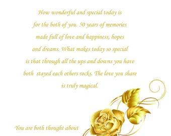 Nanna & Grandad Golden Anniversary Card