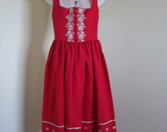 Vintage authentic dirndl by Wurzer. Perfect for Octoberfest or a beer wench costume.