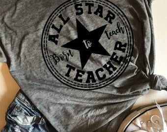 All Star Teacher SVG, PDF, PNG, Dxf Design