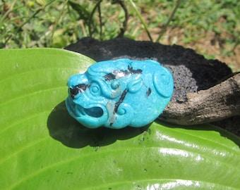 Turquoise Nacozari Carving. S1083