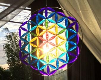 Flower of life yoga decor suncatcher room meditation altar mandala sacred geometry gifts art work