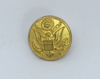 Vintage WWII brass uniform coat button