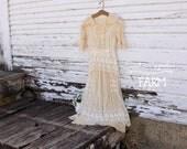 Antique Early 1900's Net Lace Dress