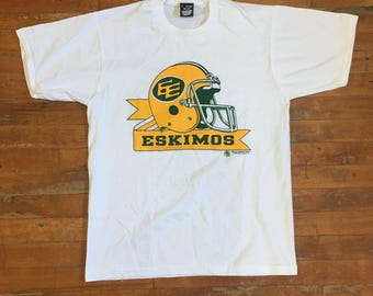 Vintage CFL Edmonton Eskimos T Shirt