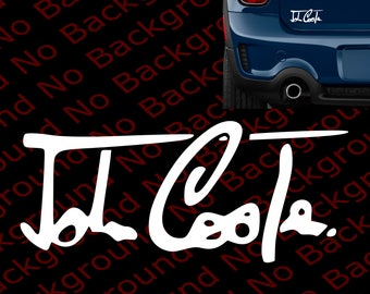 Signature for MINI COOPER Window Die Cut No Background Vinyl Decal Sticker for JCW John Cooper Works Countryman Clubman S Hardtop  MN005