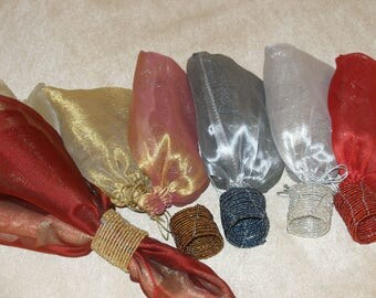 Beaded Napkin Holders set of 12