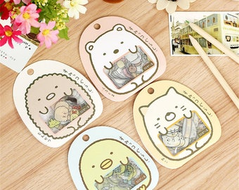 Sumikko Gurashi Stickers - Kawaii San-X  Flake Stickers - Planner Stickers - Cute - Transparent - Deco Stickers