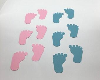 40 Cardstock Die Cut Baby Feet (20 Pairs)